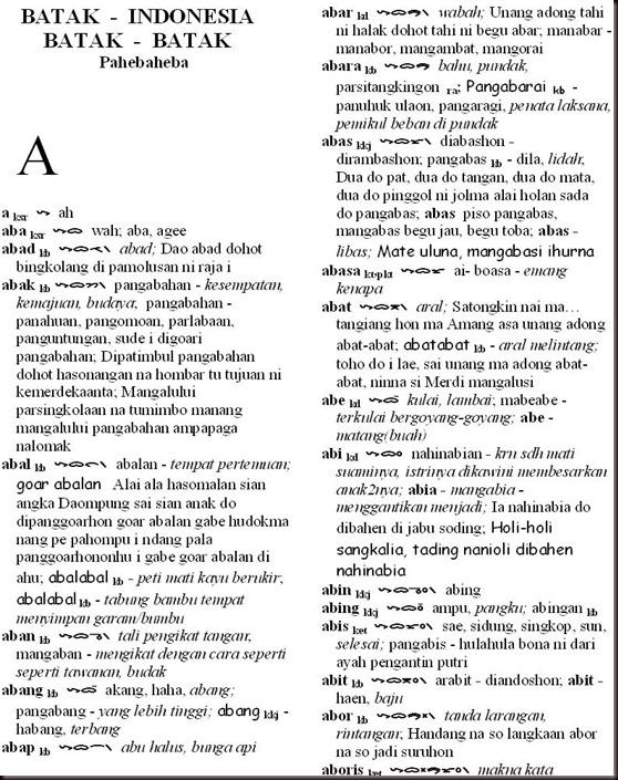 contoh1 Bahasa batak